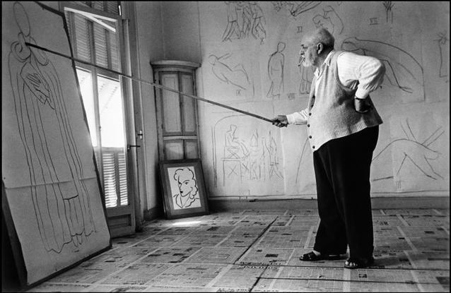 1949. Henri MATISSE by Robert Capa