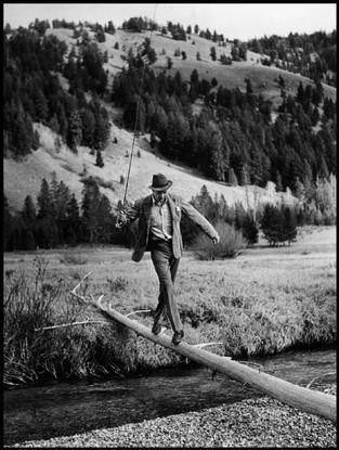 USA. Sun Valley, Idaho. October, 1941. American actor Gary Cooper.