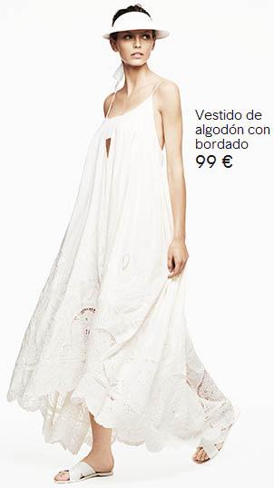 H&M vestido con guipur