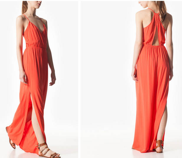 STR vestido con aberturas