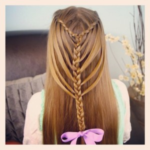 Waterfall Twists into Mermaid Braid  Cute Hairstyles (3)