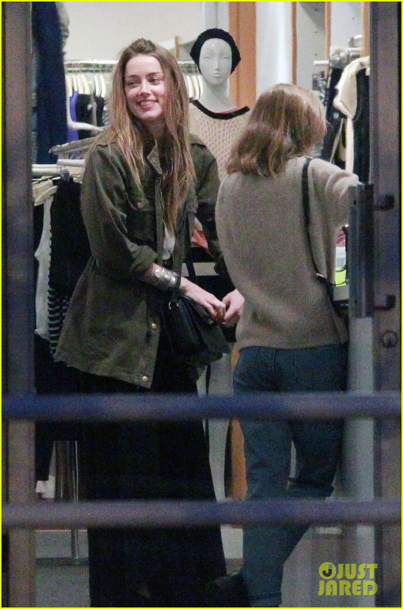 Amber Heard took her future daughter-in-law Lily Rose Melody Depp on a shopping trip in West Hollywood