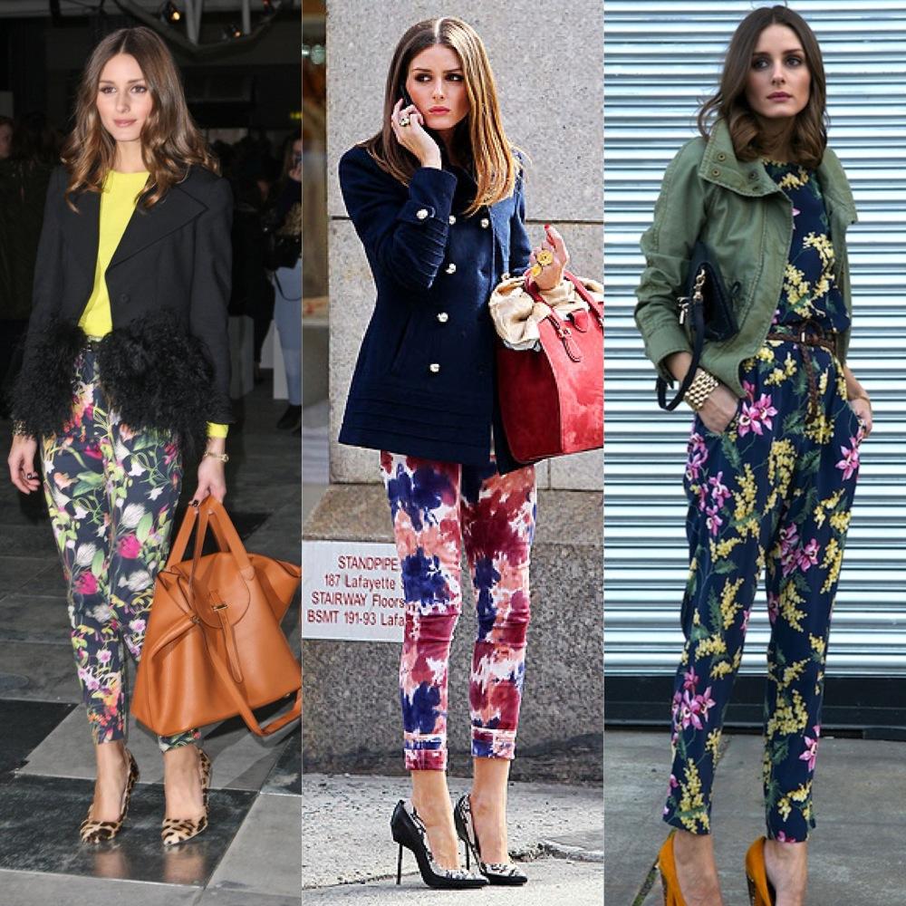 Olivia Palermo pantalones estampados
