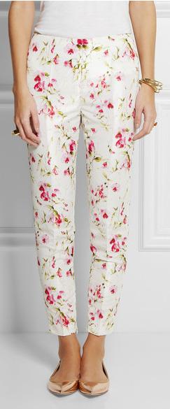 Red Valentino pantalón flores botánicas