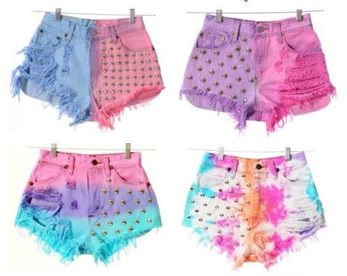 como hacer shorts desteñidos 2014
