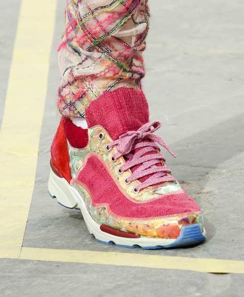 chanel-zapatillas sport rosas tweed