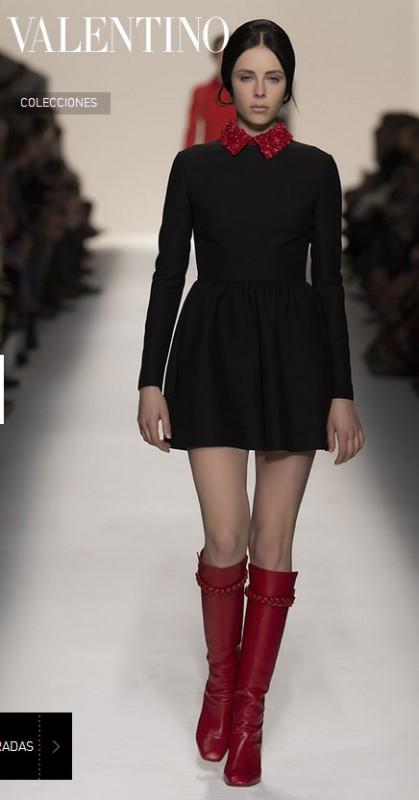 look-Valentino-bota-alta años 60