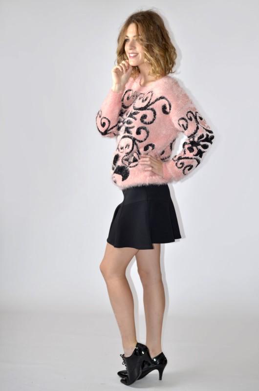 Falda con tejido neopreno  vintaway.com