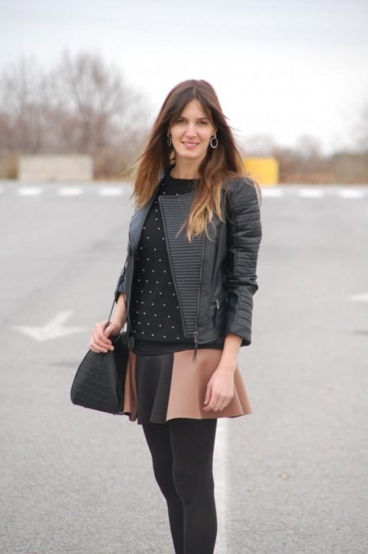 Falda Neopreno bicolor blogger
