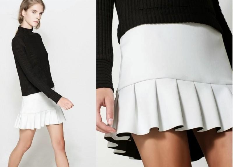 Falda de Zara neopreno bicolor