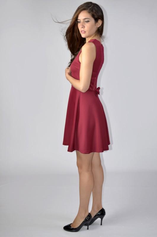 Vintaway.com Vestido tejido neopreno