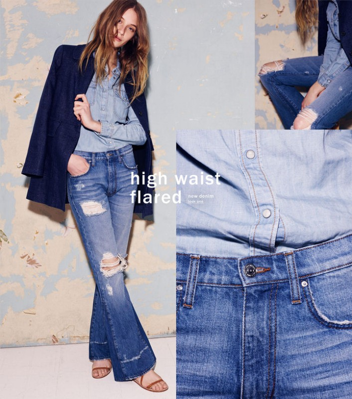 Zara camisa denim primavera hippie 2015