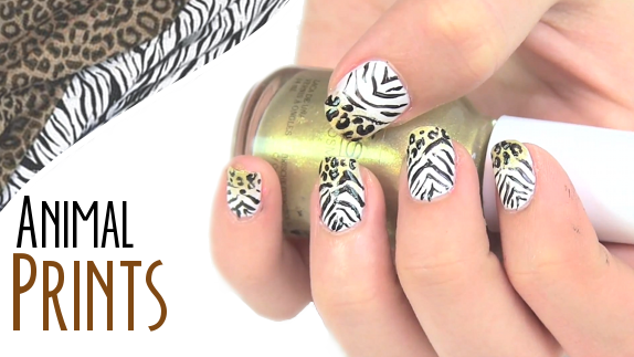 Animal prints uñas de gel gel lack en casa