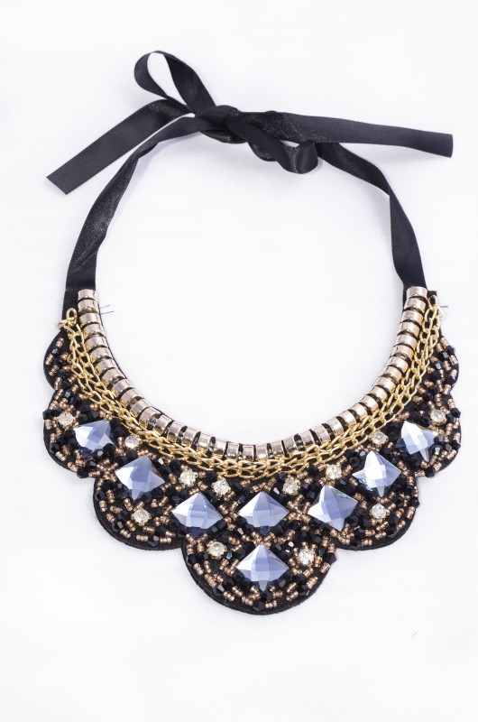 collar lazo diamante