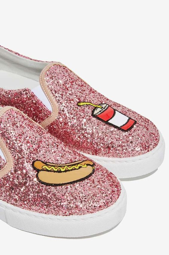 zapatillas con glitter