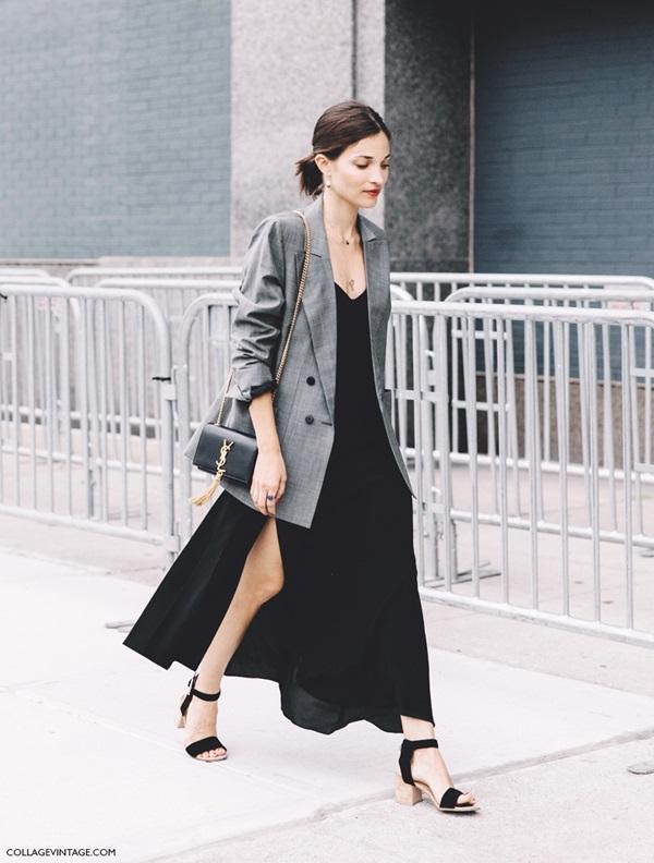 New_York_Fashion_Week-Spring_Summer-2016-Street-Style-Maria_Dueñas_Jacobs-Grey_Blazer-Long_Dress-Saint_Laurent_Bag-2-790x1185